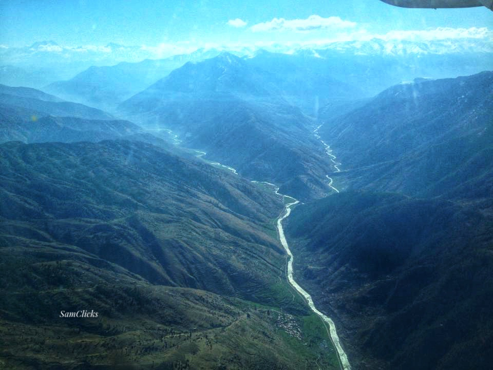 Bheri River, an aerial view