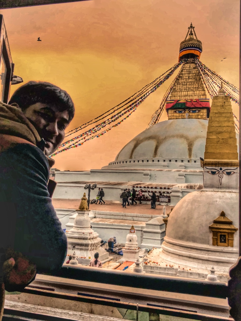 Boudhanath Stupa from a window