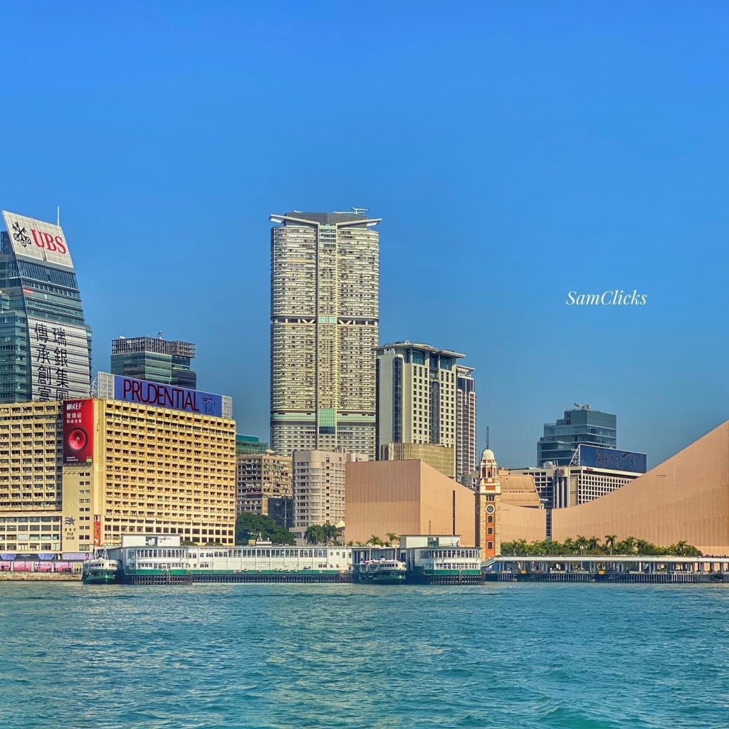 Iconic Star Ferry Pier from the Hong Kong Island Side