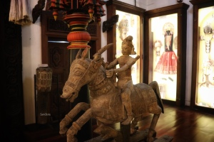 A warrior Goddess in the Kerala Follore Museum,