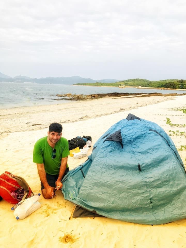Camping in Tung Ping Chau, an abandoned island
