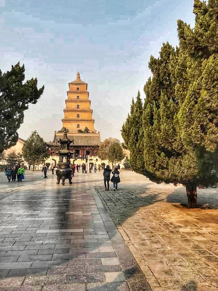 Giant Wild Goose Pagoda, where Xuanzang returned to