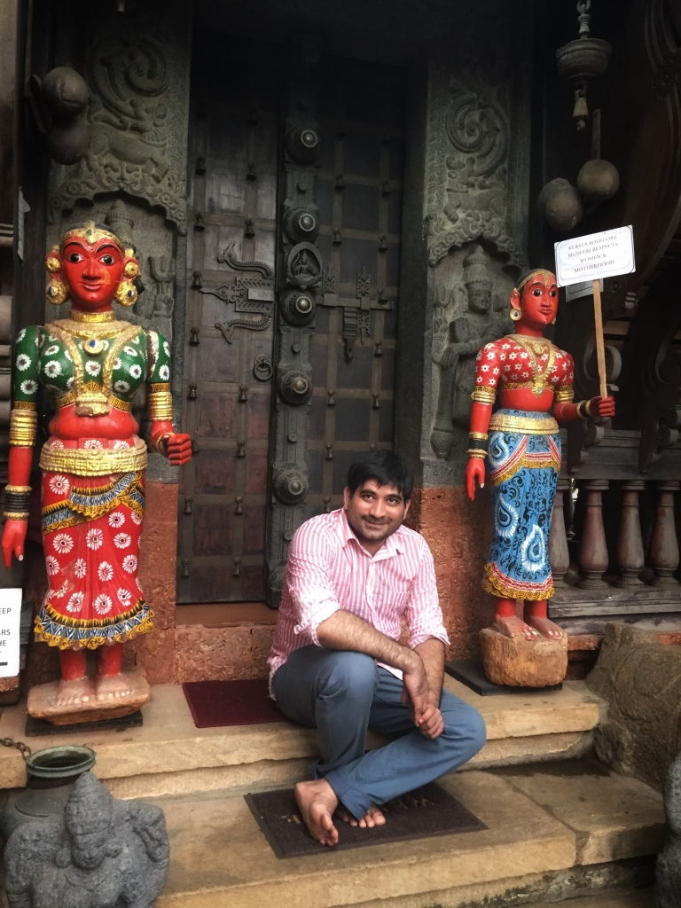 At the Kerala Folklore Museum in Kochi