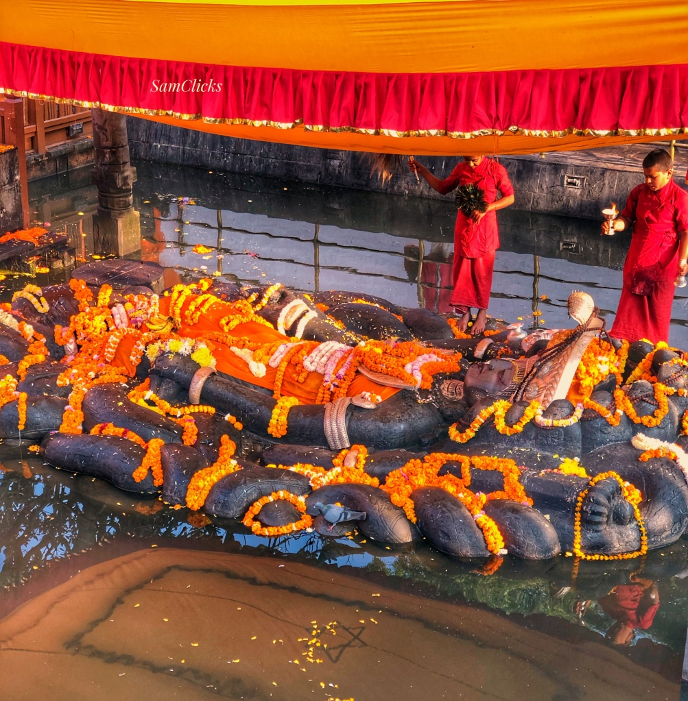 Floating Lord Vishnu Statue in Budhanilkantha Temple